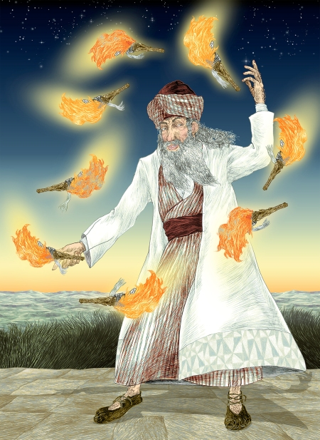 R.Gamliel-JugglingWithFire-SimchatBeitHaShoeivah